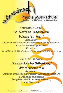 Plakat Winterkonzert I + II